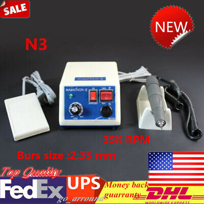 Dental Lab Marathon Electric Micromotor W 35k Rpm Handpiece Polishing Unit N3