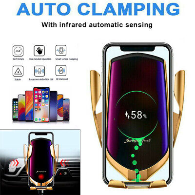 Qi Fast Wireless Charger Charging Pad Phone Holder For Samsung Galaxy S20 Ultra