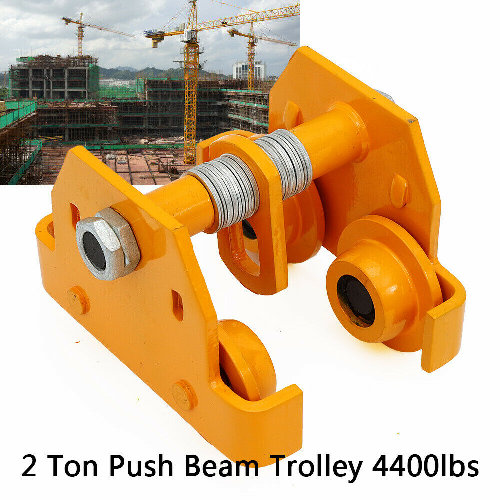 Details about 2 Ton Push Beam Trolley Garage Hoist For Heavy Loads Weight  Capacity 4400 Lbs
