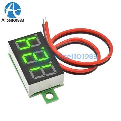 0.36 Led Digital Car Voltmeter Voltage Panel Meter 2 Wire Dc 3-30v Yellow Green