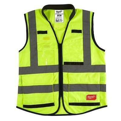 Milwaukee Premium Smallmedium Yellow Class 2 High Visibility Safety Vest