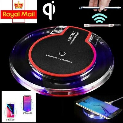 QI Wireless Charger WiFi Charging Pad Mat Dock For iPhone 8 Plus X XS Max XR