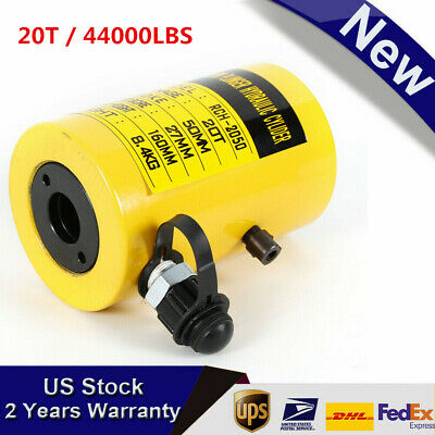 20t 44000lbs 2inch Manual Oil Pump Hydraulic Cylinder Jack Solid Metal Constru