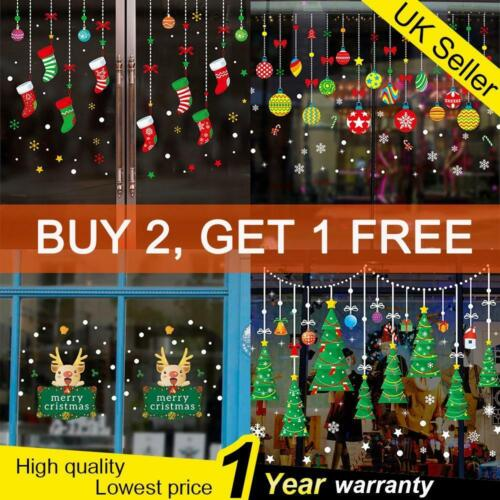 Home Decoration - Christmas Xmas Santa Removable Window Stickers Art Decal Wall Home Decoration UK