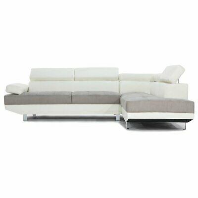 Modern Contemporary Designed Two Tone Microfiber and Bonded