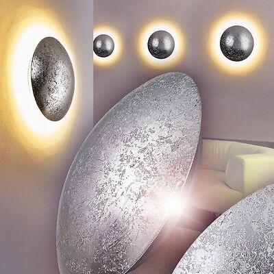 LED Design Wandleuchte Flur Leuchten Wand Wandlampe Wohn Zimmer silberfarben