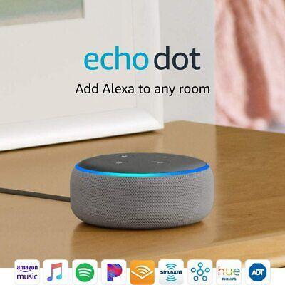 Amazon Echo Dot 3rd Gen - Smart speaker with Alexa - Heather Grey BRAND NEW