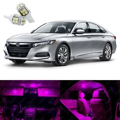14 x Pink LED Interior Lights Package Kit Deal Best For ACCORD 2013 -