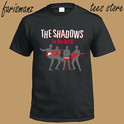 The Shadows *The Very Best Instrumental Rock Band Men's Black T-Shirt Size