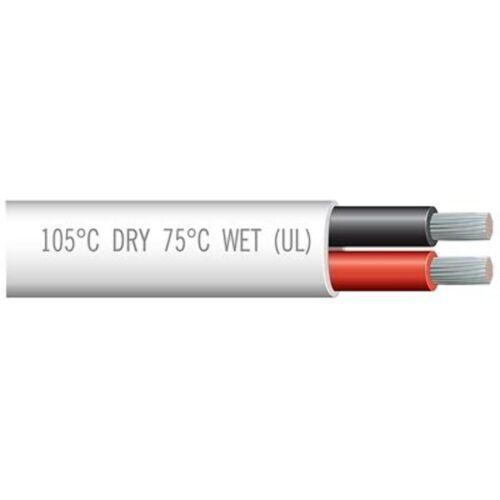 "Marpac Marine Cable Duplex 16/2 Gauge 600V Red/Black 100"" USCG 7-4482 SAE MD"