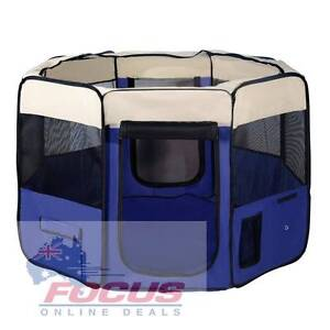 Pet Dog Puppy Cat Exercise Playpen Crate Cage Tent Blue North Melbourne Melbourne City Preview