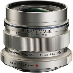 Olympus M Zuiko 12mm with UV Filter MINT