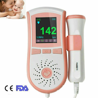 Handheld Color Fetus Doppler Fetal Doppler Baby Heart Monitor Fetal Monitoring