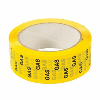 GAS WARNING Tape Laminated BOPP Safety Pipe Meter Marking 33mtr