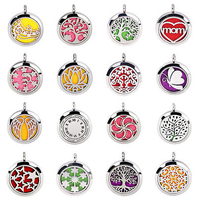 316L Stainless Steel Aromatherapy Essential Oil Diffuser Perfume Locket Necklace