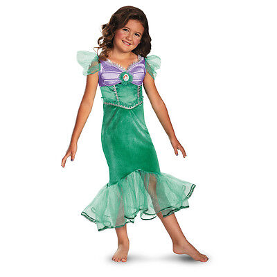 Disney Ariel Costume Little Mermaid Princess Dress Toddler Child Girls Kids - Little Mermaid Toddler Costume