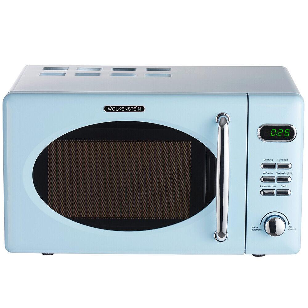WOLKENSTEIN Retro Mikrowelle Mikrowellenherd Microwelle WMW720 LB blau 700 Watt