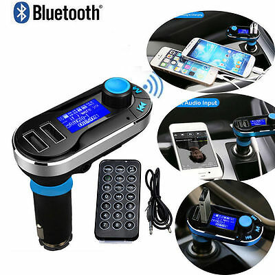Car Parts - Bluetooth Car FM Transmitter MP3 Player Hands free Radio Adapter Kit USB Charger