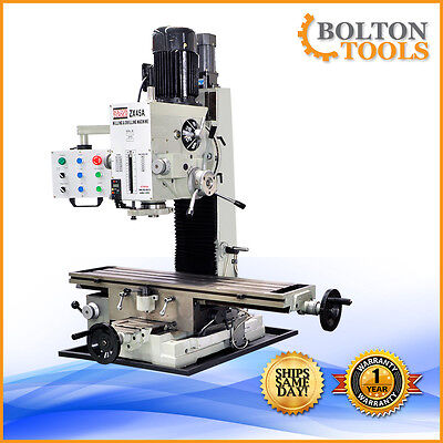 9 12 X 40 Bench Top Milling Machine 3 Axis Power Feed Zx45a Free Shipping
