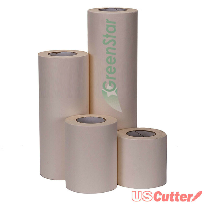 "12"" x 100YD GreenStar Wet Application Transfer Tape, Medium Tack, Craft, Banners"