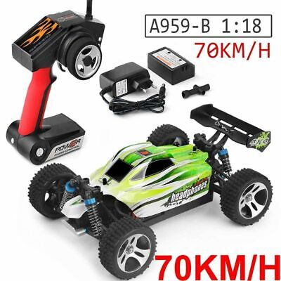 Wltoys A959-B 2.4G 1/18 4Wd 70Km/H Eléctrico Rtr Off Road Buggy Rc...