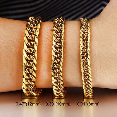 Panzerkette Panzerarmband mit echt Gold vergoldet Herren Damen Unisex Armband