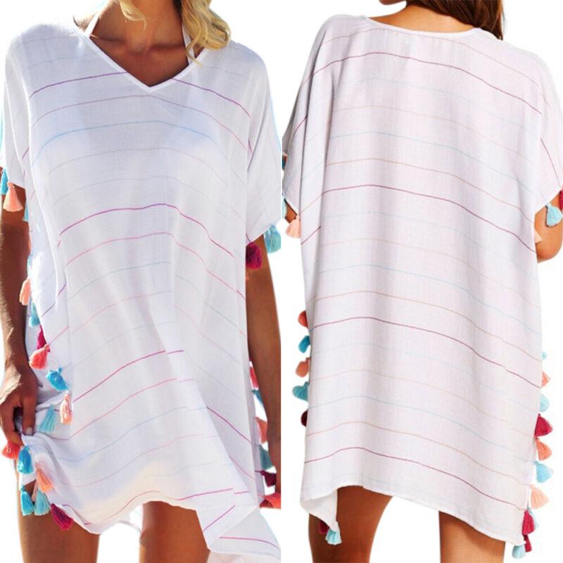 Womens Bikini Cover Up Beach Holiday Dress Summer Swimsuit Swimwear Beachwear Clothing, Shoes & Accessories