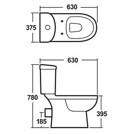Brand New Premier NCS250 Ivo Pan/Cistern And Soft Close Seat - White