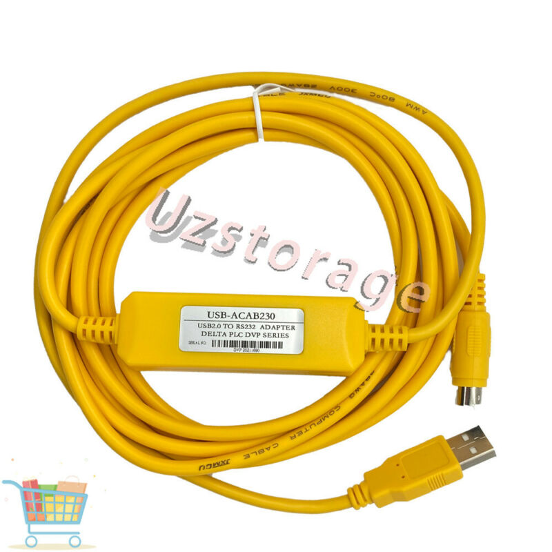 USB-ACAB230 PLC Programming Cable for Delta DVP Series PLC Adapter PLC-3 USB-DVP
