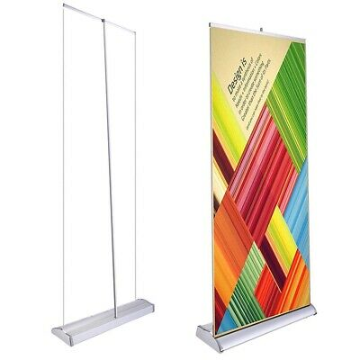 Deluxe L Type 33x79 Retractable Roll Pop Up Banner Stand Trade Show Sign Display