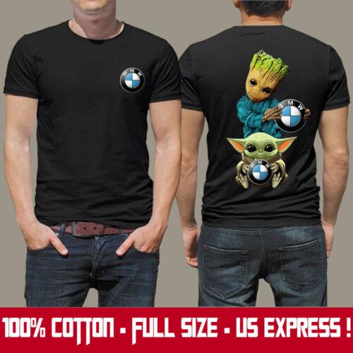 BMW M-M3-M4/X4 M/r1200gs/Men's US 2D T-Shirt/Logo In Front/Groot-Yoda/HOT Gift
