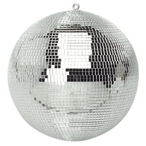 Genuine SoundLAB Lightweight Silver Mirror Dance Disco Party DJ Ball (300mm 12