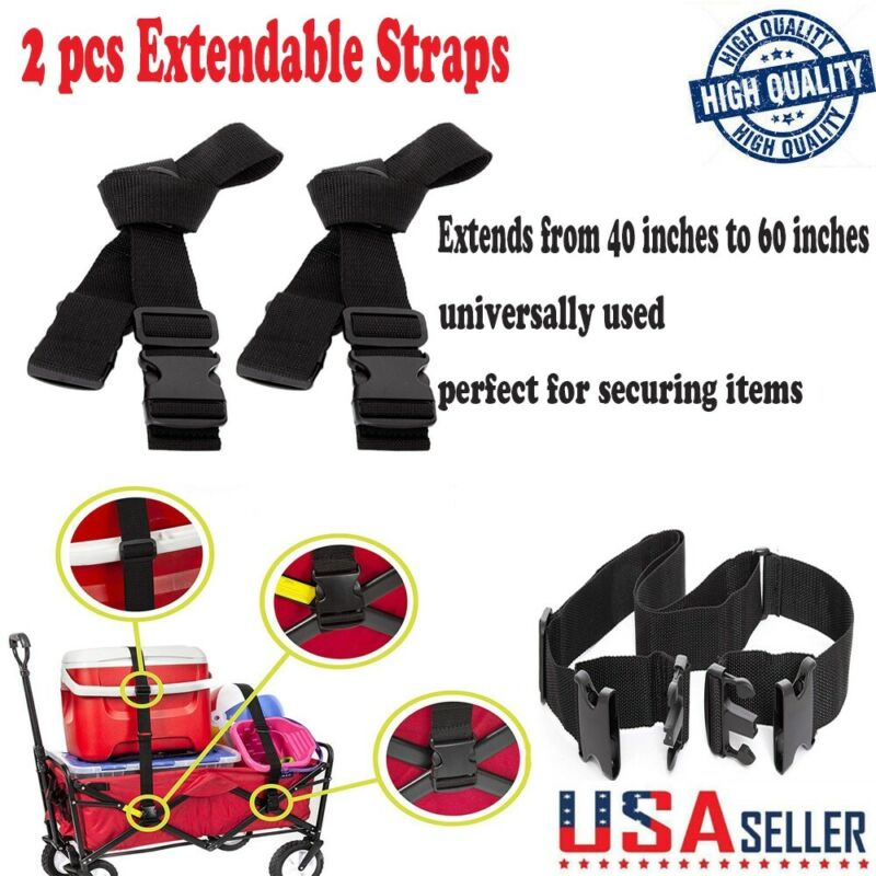 Wagon Extendable Straps Sports Collapsible Folding Outdoor U