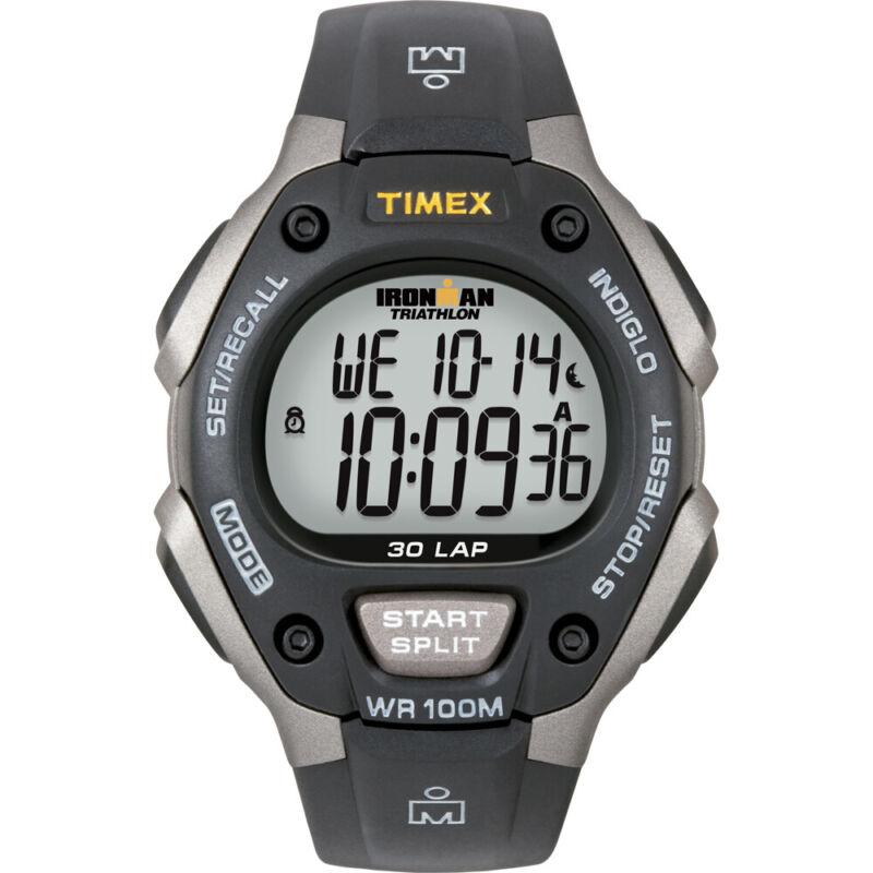 Timex Ironman Triathlon 30 Lap - Black/Silver  (T5E901)