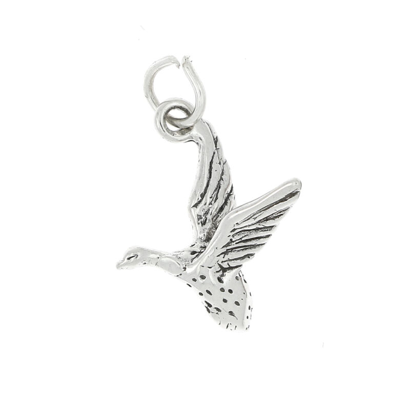 STERLING SILVER GEESE CHARM OR PENDANT
