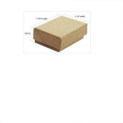 Wholesale 400 Small Kraft Cotton Filled Jewelry Gift Boxes 178