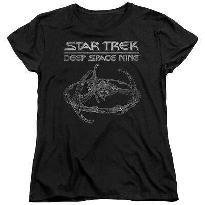 Star Trek Deep Space Nine SciFi TV Series Space Station Blueprint Womens - Star Trek Shirt Womens