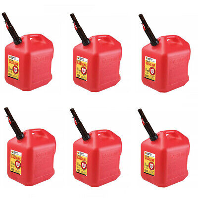 Gas Cans - 5 Gallon Each 6 Pack Plastic Will Not Corrode Or Rust Brand New