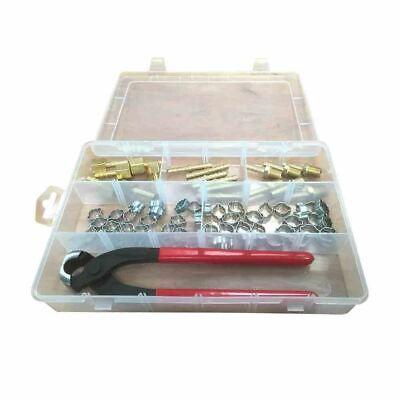 Air Or Hydraulic Hose Barb Crimping Crimper Repair Tool Kit Fitting Crimp