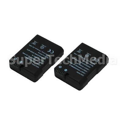 2 Decoded Battery For Nikon EN-EL14 DSLR D3100,D3200,D5100,D5200 USA Seller for sale  Shipping to India