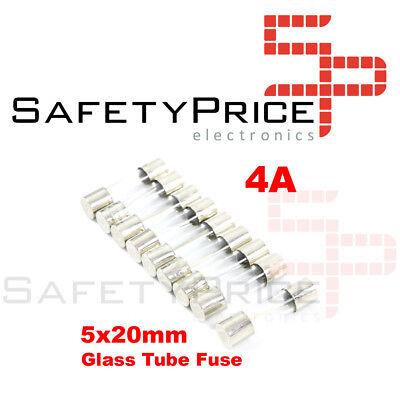 5X Fusible Rapido de Vidrio 5X20 mm 4A 250V. Pack 5 Fusibles...