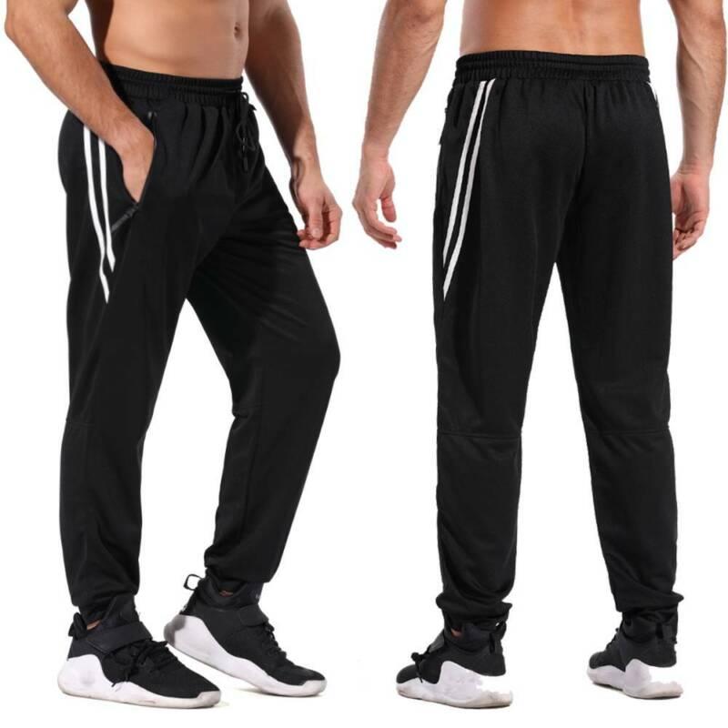 mens sport joggers pants jogging sweatpants gym