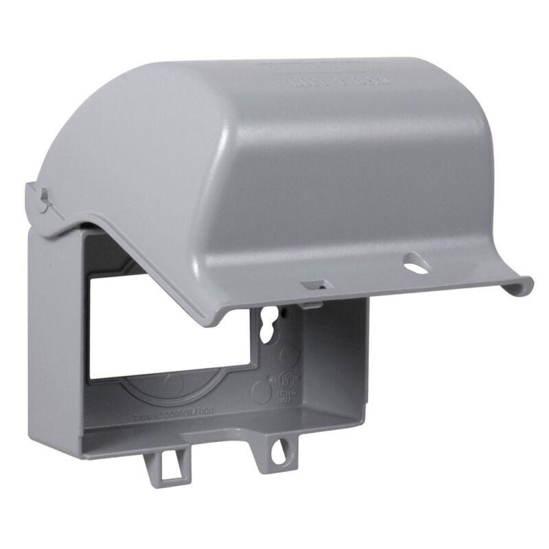 Taymac MX3300 One Gang Horizontal In Use Metal Weatherproof Receptacle Cover