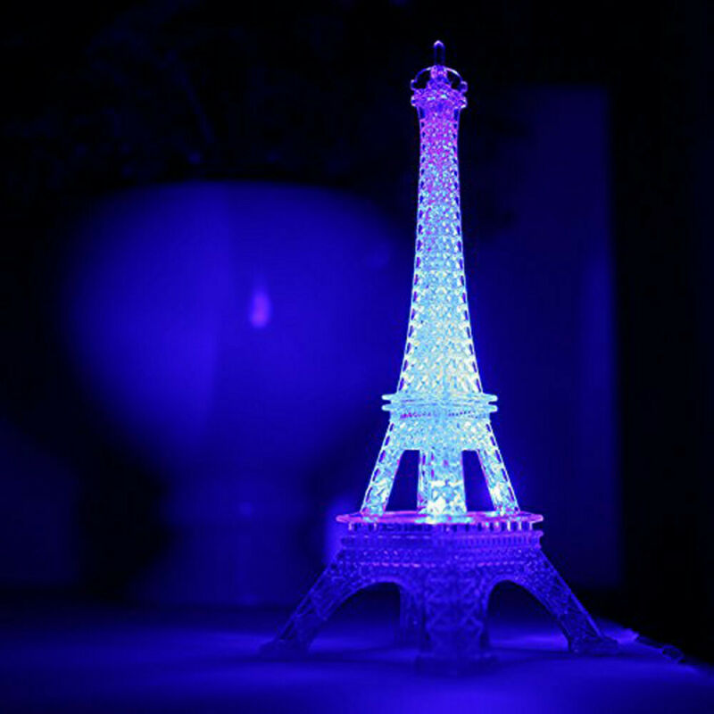Eiffel Tower 3D Illusion Lamp LED Night Light for Bedroom Ar