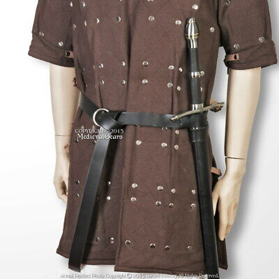 Genuine Leather Ring Belt Sword Hanging Frog LARP Medieval Renaissance Costume (Sword Belt)