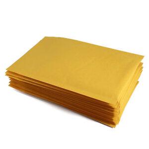 100 pcs #000 4x8 Kraft Bubble Envelopes Mailers 4 x 8 (Inner 4x7)
