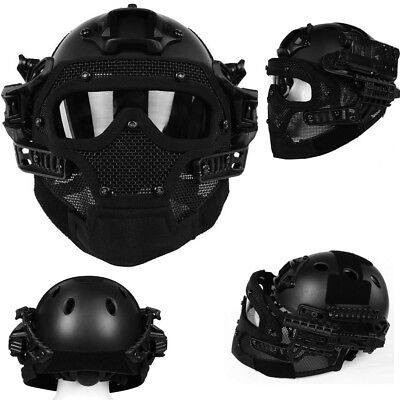Airsoft Paintball Tactical Fast Helmet Mask Goggles G4 System Protective Gear L1