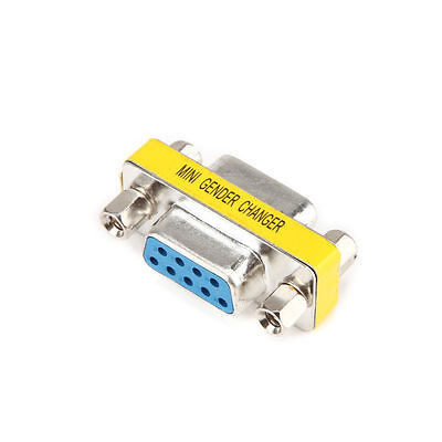 9 Pin RS-232 DB9 Female to Female Serial Cable Gender Changer Coupler Adapter ()