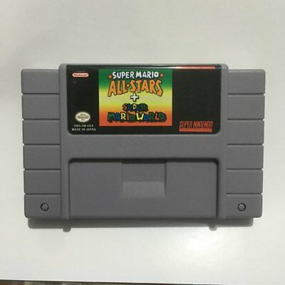 Super mario all stars + world SNES Super Nintendo Video Game -