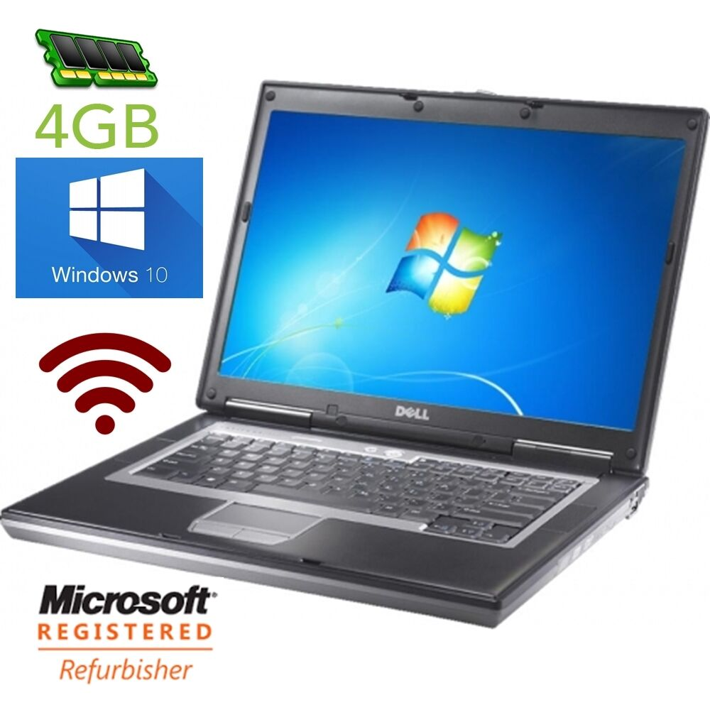 Dell Latitude D620 D630 Dual Core Processor, 80-100GB HDD, 4GB RAM, WINDOWS 10